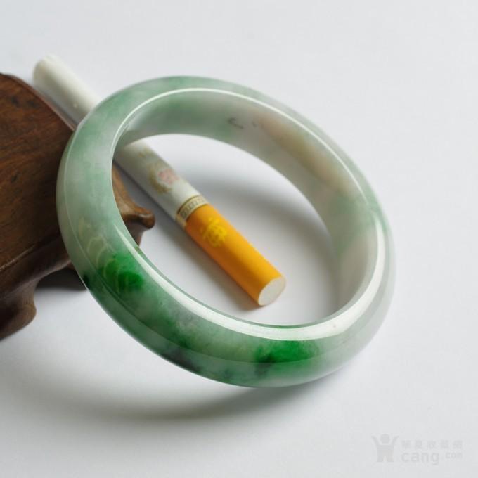 辣绿正圈翡翠手镯 57mm  25P60 3图5