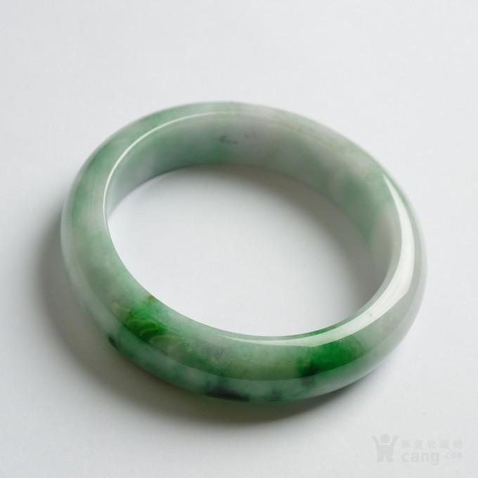 辣绿正圈翡翠手镯 57mm  25P60 3图4