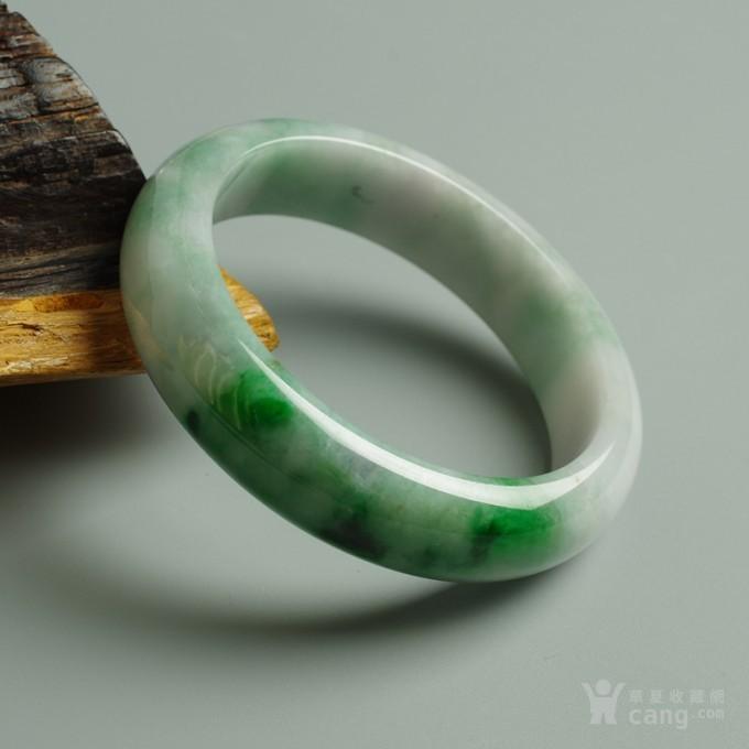 辣绿正圈翡翠手镯 57mm  25P60 3图7