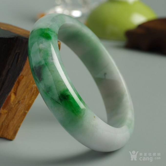 辣绿正圈翡翠手镯 57mm  25P60 3图1