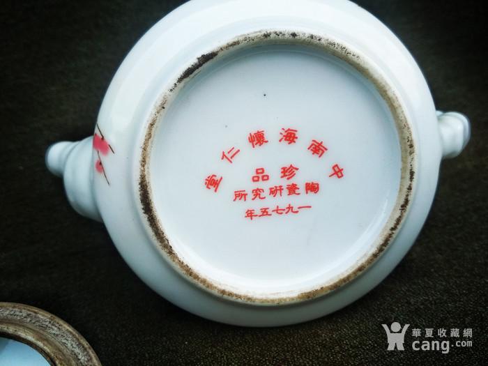 瓷质梅花壶一把