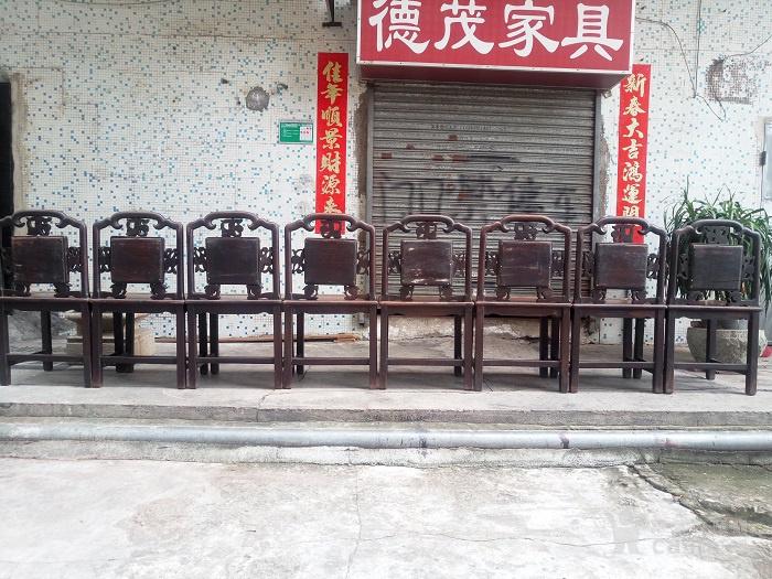 老红木   老酸枝木     椅子  八张一套