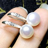 明星同款高跟鞋珍珠耳环!天然淡水珍珠漂亮白珍珠耳环一对