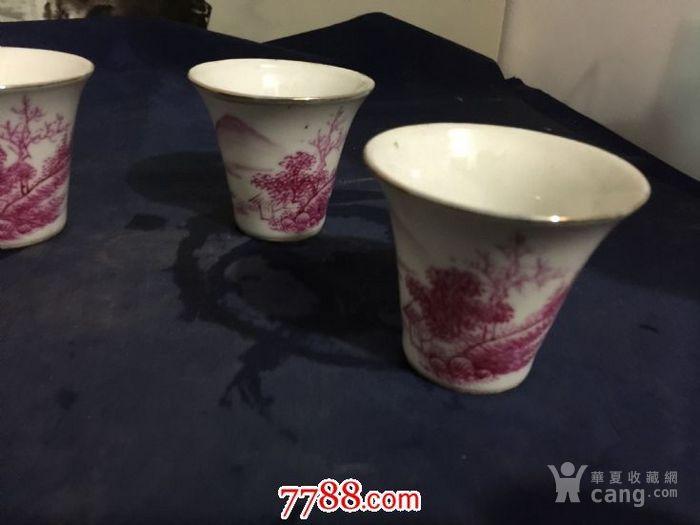 民国红山水杯一组