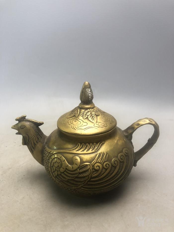 老铜凤凰铜壶A2186