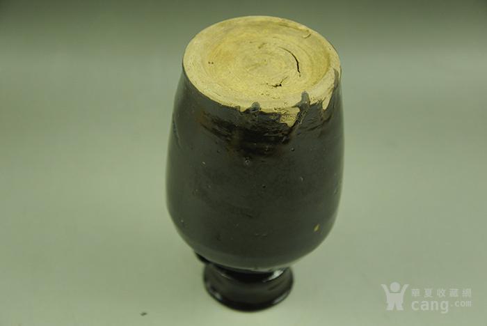 清代磁州窑单色釉黑釉双系盘口梅瓶老瓷器陈设摆件插花器包老藏品