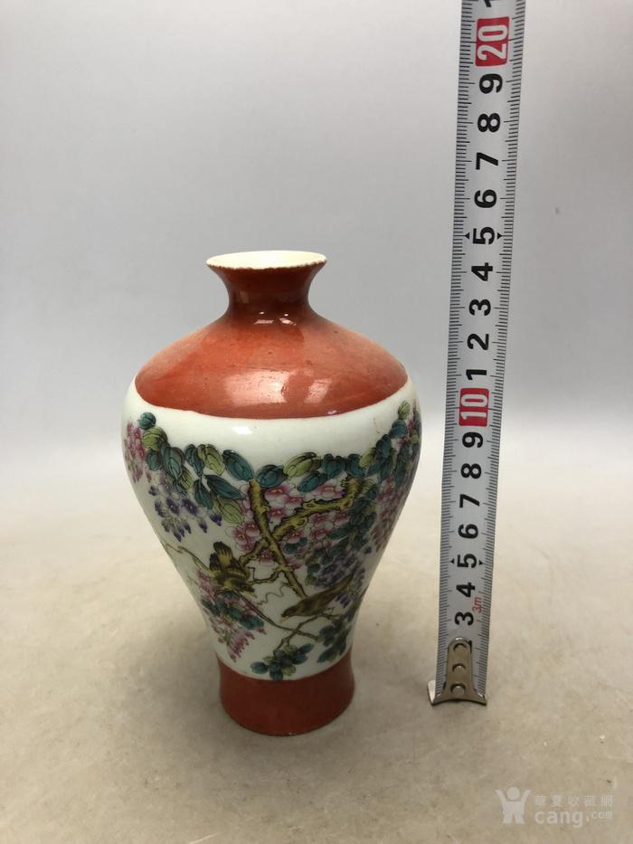 粉彩花鸟瓷瓶C0197