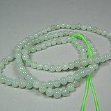 近现代a货翡翠小圆珠项链一串