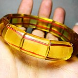高品质全净玻璃体!精品油亮玻璃体黄萤石纯天然无优化水晶手排