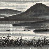 近 林风眠 芦雁图 纸本 135.4X67.6cm