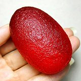 天外来物保真陨石!红艳如血天然库尔勒血陨石大原石满红把玩件