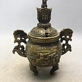 铜佛像老熏香炉A0560