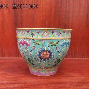 粉彩花卉碗
