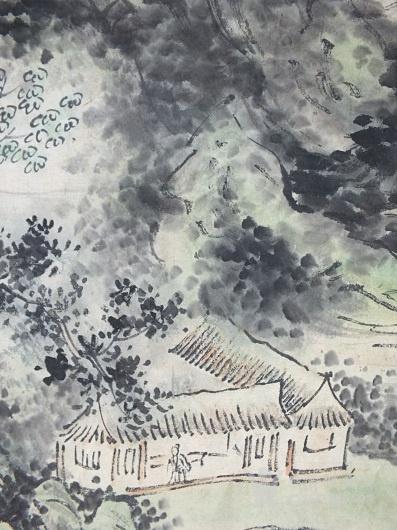 年代:其它 款式:条幅 品相:全品 内容:山水风景