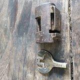 清代铁锁   非常不错 可以正常打开