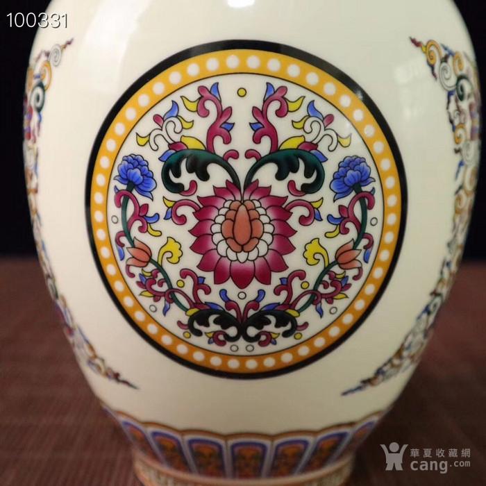 珐琅彩花卉图纹花瓶