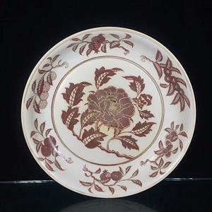 瓷器 硕果牡丹大盘