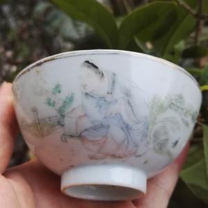 大名家吴少峰,人物莲子碗。