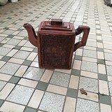 精品文革方型茶壶