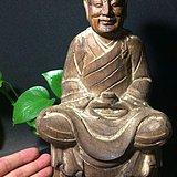 全品明代木雕禅师菩萨造像