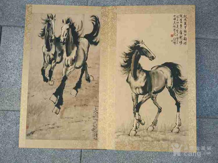 少见的名人手绘犬兽马风景老画册