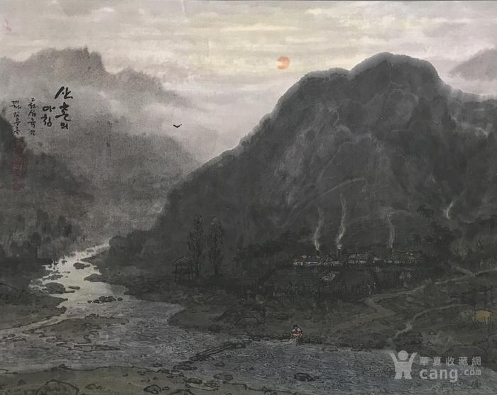朝鲜画 金庸禄 乡村的早晨 2016年 85 x 68cm