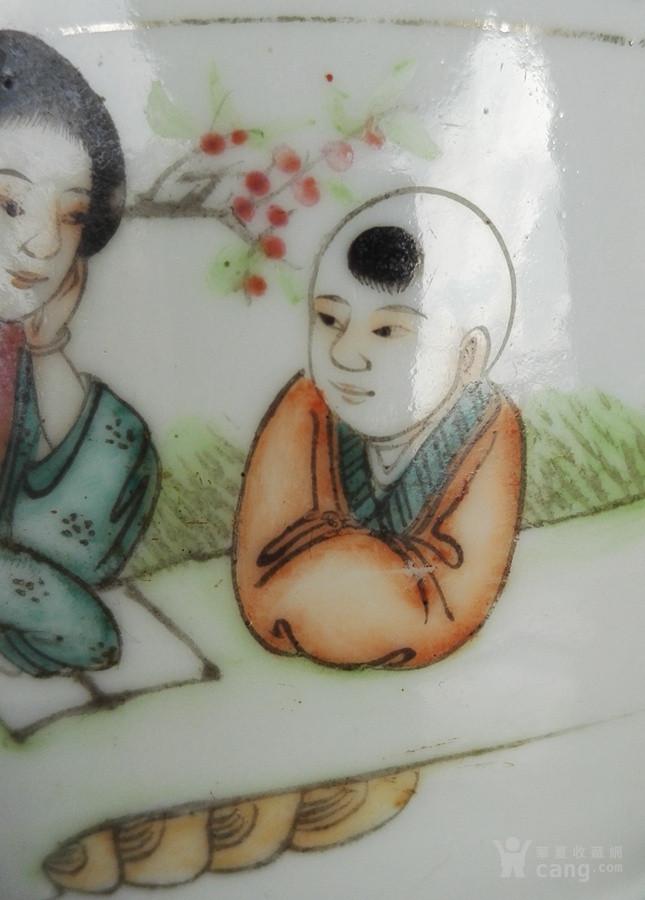 民国名家刘荣盛,精品人物盖缸。