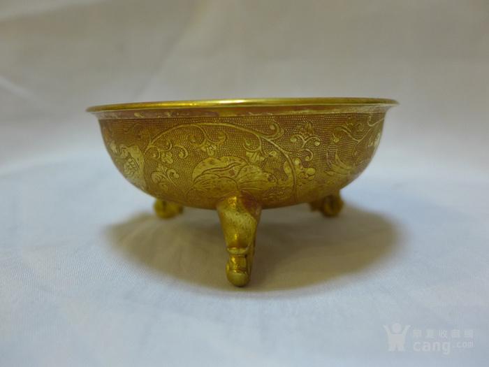 铜鎏金杯子