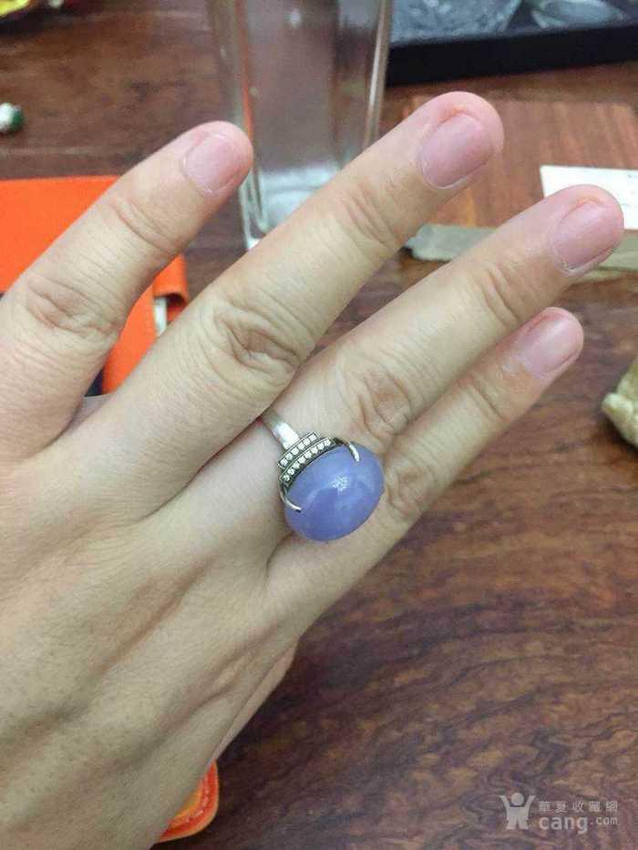 大紫罗兰戒面。尺寸长1.8cm。够大够厚