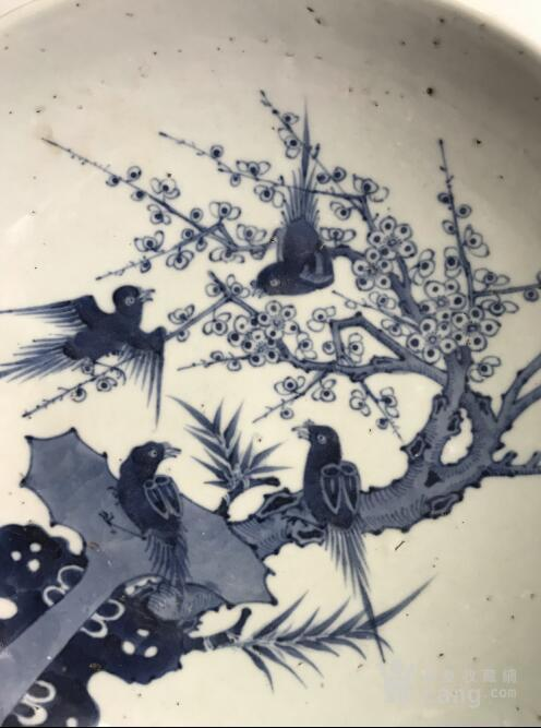 清代中期喜鹊登梅大盘