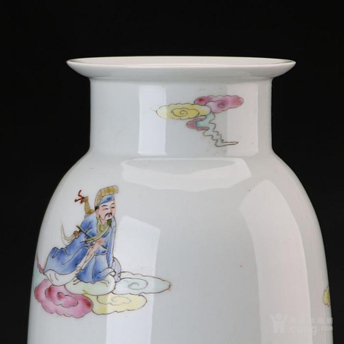 粉彩八仙纹棒槌瓶