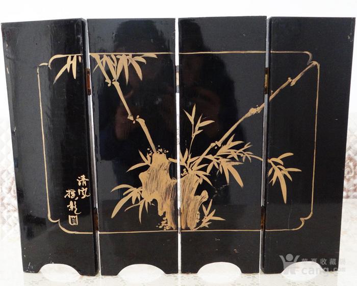 海外回流民国贝壳镶嵌山水亭台楼阁屏风两幅图6