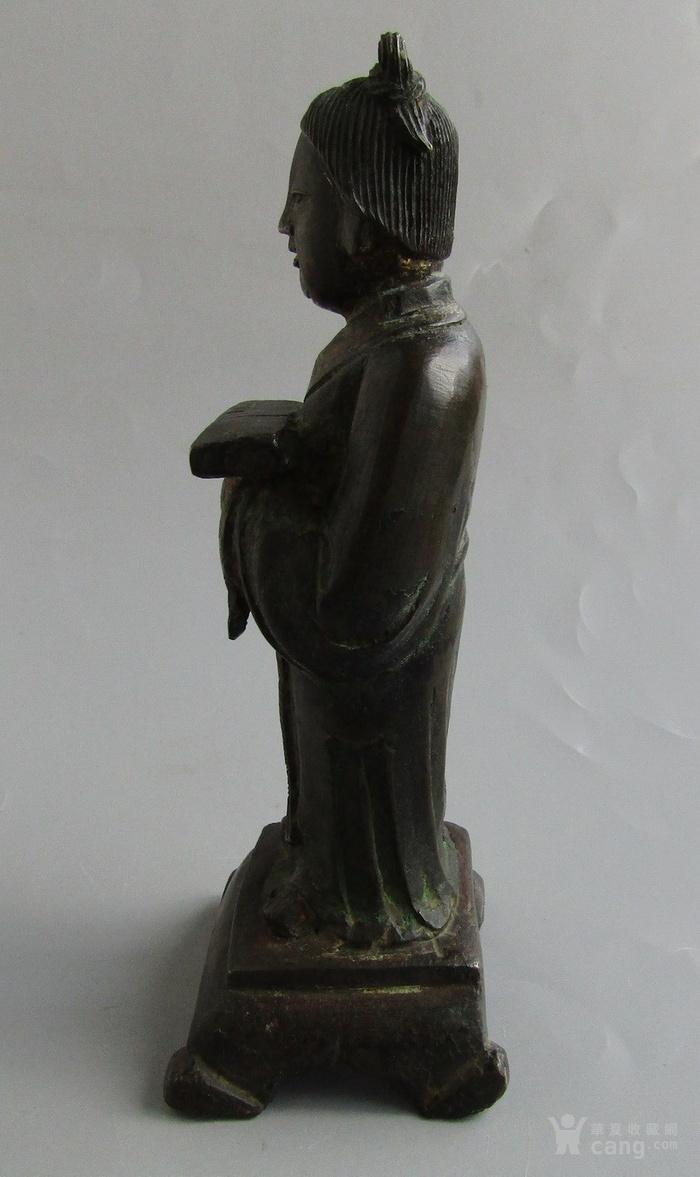 明末清初书童铜像