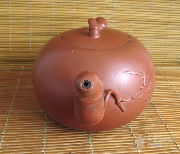 朱泥紫砂壶 竹节壶 友兰秘制壶图5
