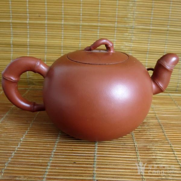 朱泥紫砂壶 竹节壶 友兰秘制壶图4