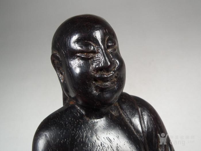 老黑檀木圆雕刘海戏金蟾大坐像图6