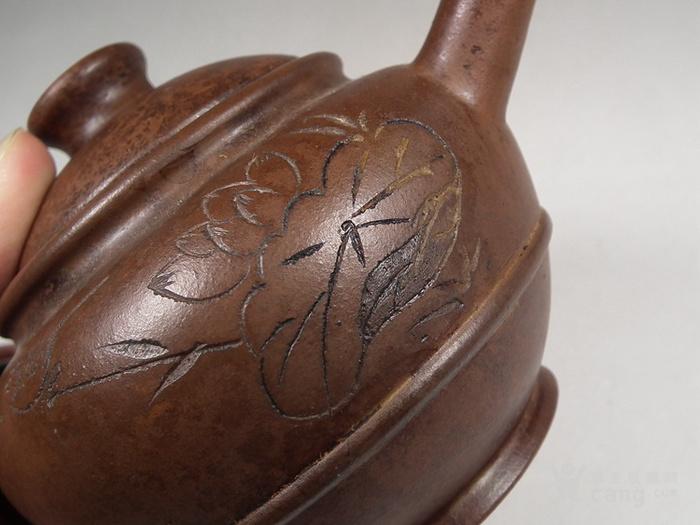 老红泥紫砂大圆茶壶
