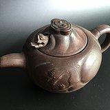 鱼化龙老茶壶。惜残。