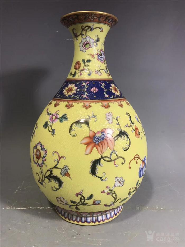 粉彩瓜果玉壶春瓶