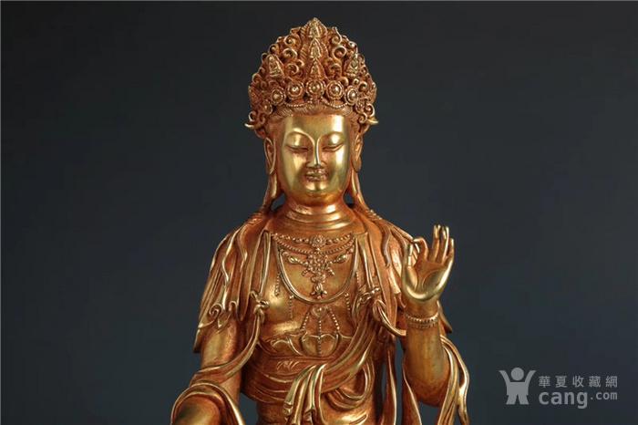 铜鎏金观音像