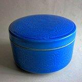文房 蓝釉彩 龙纹 笔洗