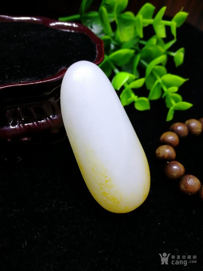 和田玉羊脂白玉籽料随形原石老坑老料图3