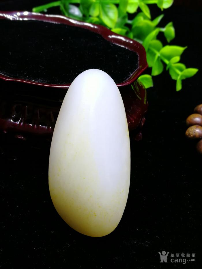 天然和田玉羊脂白玉籽料随形原石老坑老料图3