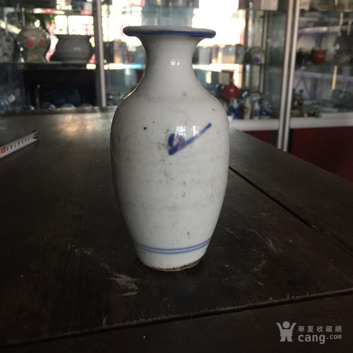 清中期青花柳叶瓶图片