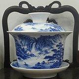 青花手绘茶文化瓷器