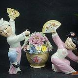 老枫溪美术瓷    迎春