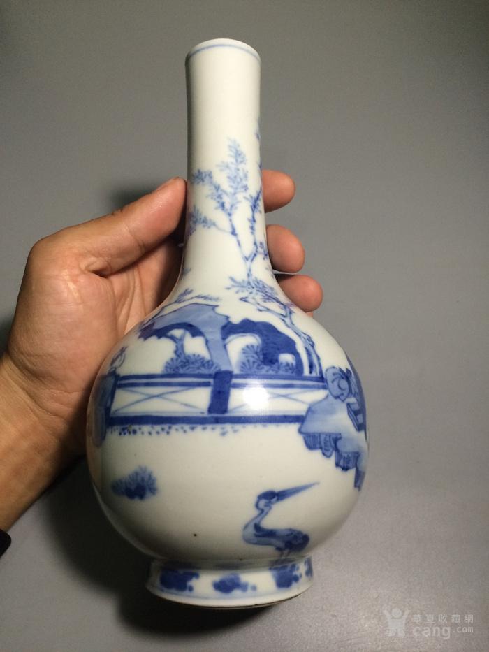 瓷器  青花人物小康瓶图5