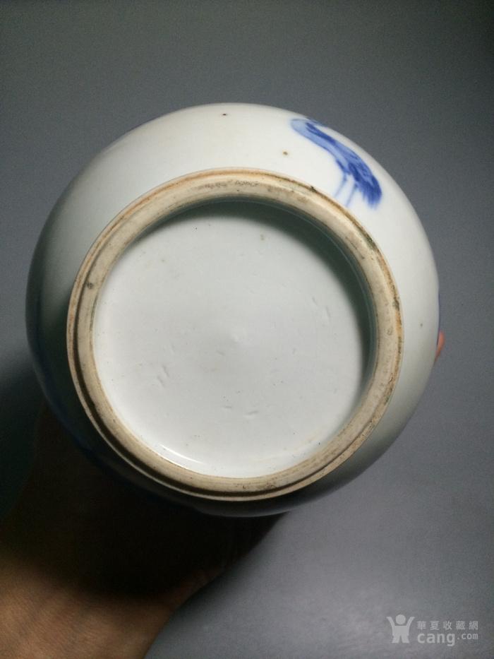 瓷器  青花人物小康瓶图10