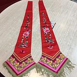 两副精美的苏工老刺绣飘带