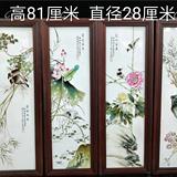 刘雨岑花鸟瓷板四屏